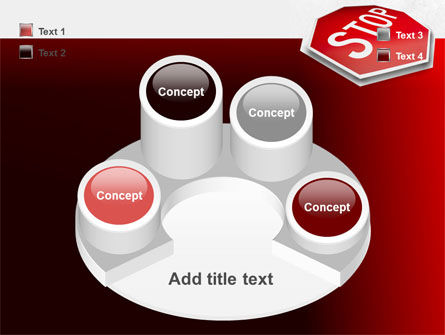 Stop Road Sign PowerPoint Template Slide 12