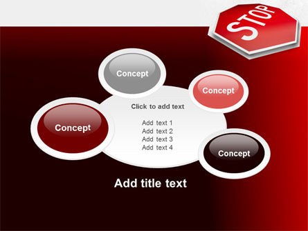 Stop Road Sign PowerPoint Template Slide 16