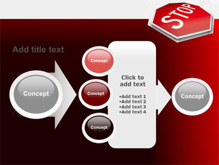 Stop Road Sign PowerPoint Template Slide 17