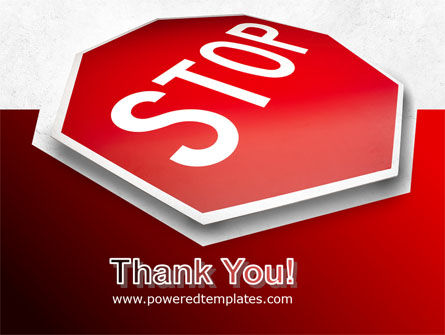 Stop Road Sign PowerPoint Template Slide 20