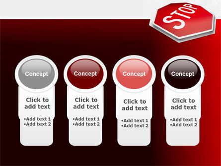 Stop Road Sign PowerPoint Template Slide 5