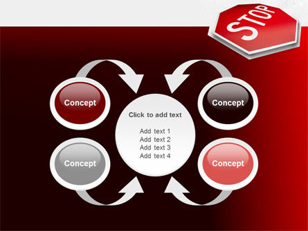 Stop Road Sign PowerPoint Template Slide 6