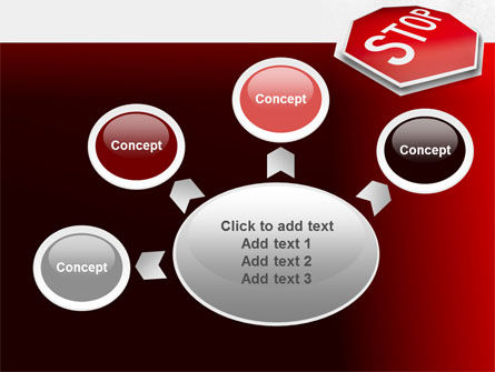 Stop Road Sign PowerPoint Template Slide 7