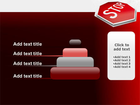 Stop Road Sign PowerPoint Template Slide 8