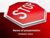 Consulting: Stop Road Sign PowerPoint Template #09606
