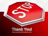 Stop Road Sign PowerPoint Template#20