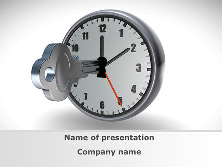 Business Concepts: Key To Time Management PowerPoint Template #09609