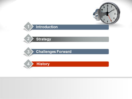 Key To Time Management PowerPoint Template Slide 3