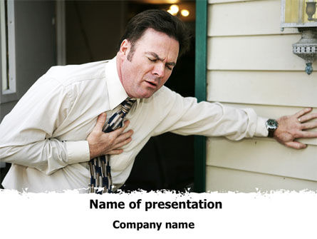 Pain In Chest PowerPoint Template, 09611, Medical — PoweredTemplate.com