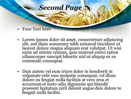Environmentally Friendly Agriculture PowerPoint Template, Slide 2, 09612, Nature & Environment — PoweredTemplate.com