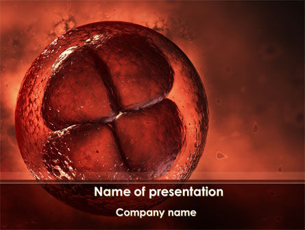 Medical: Division Cells PowerPoint Template #09613