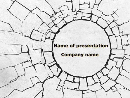 Hole In The Stone Wall PowerPoint Template