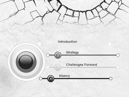 Hole In The Stone Wall PowerPoint Template Slide 3