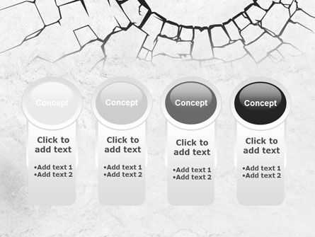 Hole In The Stone Wall PowerPoint Template Slide 5