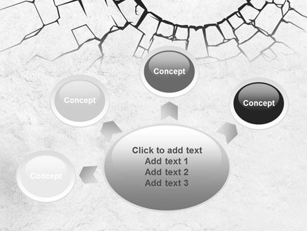 Hole In The Stone Wall PowerPoint Template Slide 7