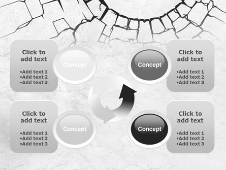 Hole In The Stone Wall PowerPoint Template Slide 9