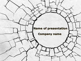 Abstract/Textures: Hole In The Stone Wall PowerPoint Template #09615