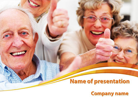 Aged People PowerPoint Template, 09618, People — PoweredTemplate.com
