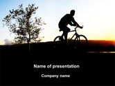 Health and Recreation: Bicycle Tour PowerPoint Template #09619