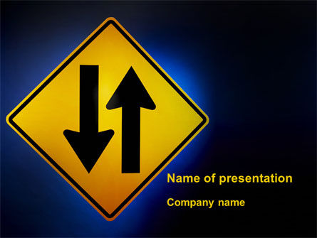 Two-Way Traffic PowerPoint Template, 09622, Consulting — PoweredTemplate.com