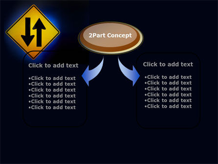 Two-Way Traffic PowerPoint Template, Slide 4, 09622, Consulting — PoweredTemplate.com