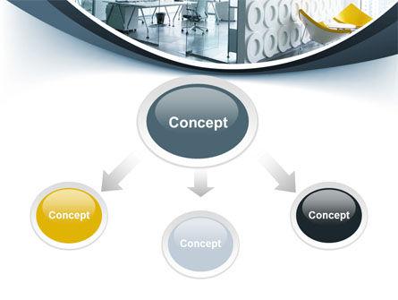 Modern Office Space PowerPoint Template, Slide 4, 09624, Construction — PoweredTemplate.com