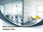 Construction: Modern Office Space PowerPoint Template #09624