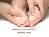 People: Baby Massage PowerPoint Template #09625