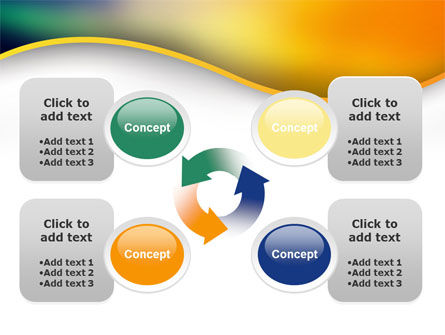 Abstract Wave PowerPoint Template Slide 9