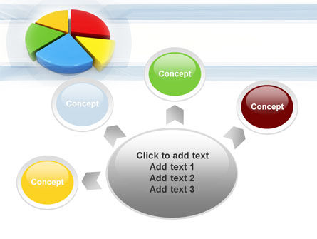Pie Diagram In 3D PowerPoint Template Slide 7