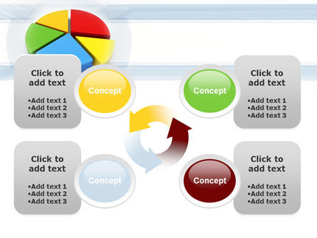 Pie Diagram In 3D PowerPoint Template Slide 9