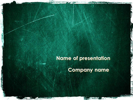 Painted Dark Green PowerPoint Template
