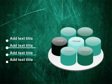 Painted Dark Green PowerPoint Template Slide 12