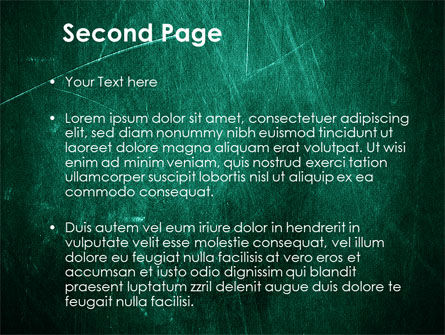 Painted Dark Green PowerPoint Template Slide 2