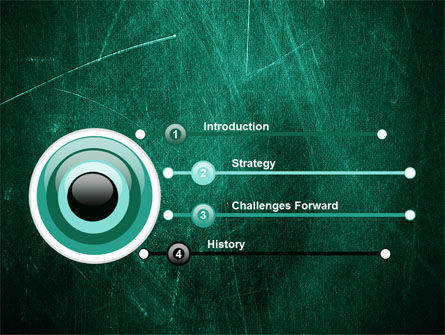 Painted Dark Green PowerPoint Template Slide 3