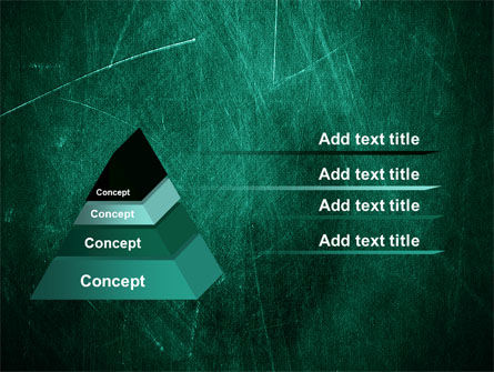 Painted Dark Green PowerPoint Template Slide 4