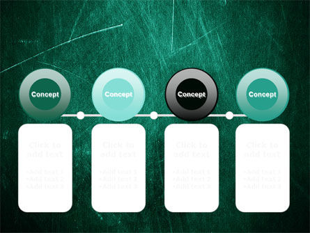 Painted Dark Green PowerPoint Template Slide 5