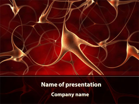 nerve cell powerpoint template, backgrounds | 09636, Modern powerpoint