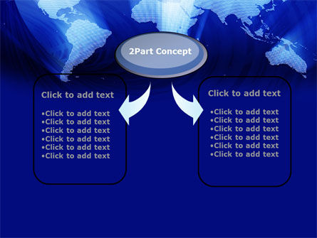 World Map In Blue PowerPoint Template Slide 4
