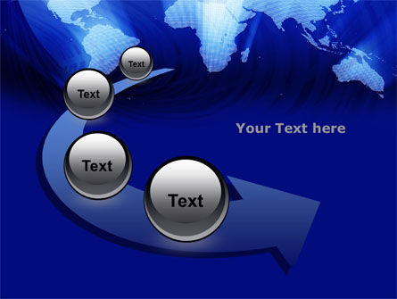 World Map In Blue PowerPoint Template Slide 6