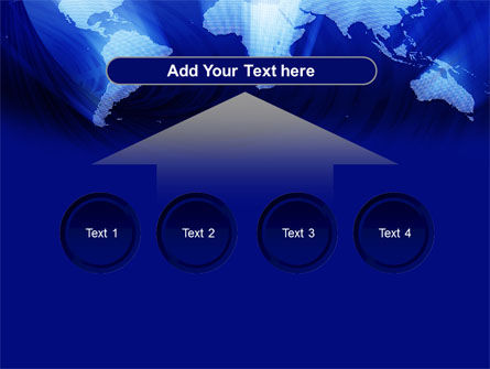 World Map In Blue PowerPoint Template Slide 8