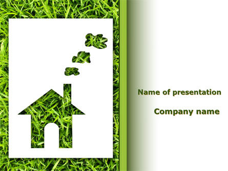 Green House Idea PowerPoint Template, 09640, Real Estate — PoweredTemplate.com