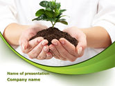 Nature & Environment: Burgeon PowerPoint Template #09641