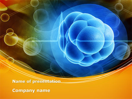 Molecular Forces PowerPoint Template, 09642, Technology and Science — PoweredTemplate.com