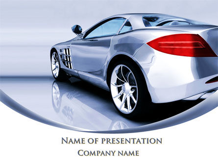 Cars and Transportation: Modelo do PowerPoint - desenho de carros esportivos #09643