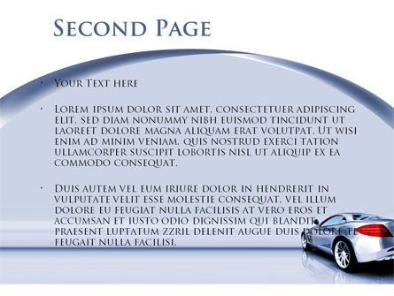 Sports Car Design PowerPoint Template Slide 2