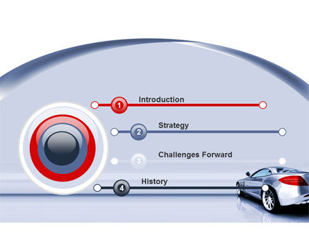 Sports Car Design PowerPoint Template Slide 3