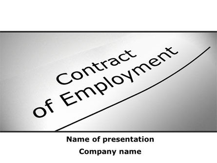 Contract Of Employment PowerPoint Template
