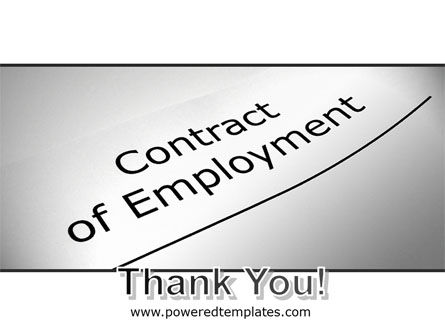 Contract Of Employment PowerPoint Template Slide 20