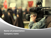 Careers/Industry: News Operator PowerPoint Template #09646
